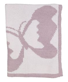 This Lavender Butterfly Chenille Blanket by Lambs & Ivy is perfect! #zulilyfinds