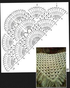 Triangular crochet shawl