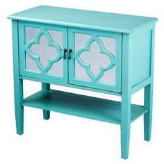 Turquoise Console Accent Cabinet