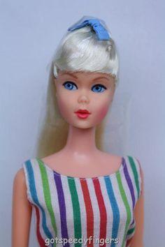 MOD Barbie RARE German American Girl Standard Pink Skin BL, Variation Suit