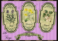 Digital old paper spices tags HTS1 by NeedfulThingShop on DeviantArt