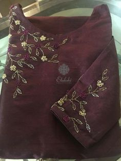 Whatsapp 9043230015 to Customize Hand Embroiderd, Bridal Wear and Party wear dresses. Zardozi Embroidery, Kurti Embroidery Design, Hand Embroidery Dress, Embroidery Neck Designs, Bead Embroidery Patterns, Embroidery Works, Embroidery Suits, Free Machine Embroidery Designs, Embroidery Fashion