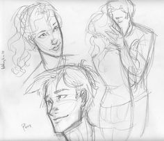 percy and annabeth sketchies by *burdge-bug on deviantART