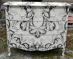 Revamp chests and dressers:  Painted, papered, stenciled
