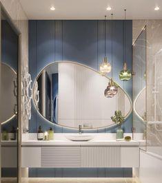 Home Room Design, Home Interior Design, Living Room Designs, Bathroom Design Luxury, Interior Design Inspiration, House, Home Decor, Bathroom Lighting, Bathrooms
