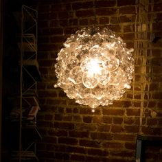 Bubble Chandelier made from PET Bottles