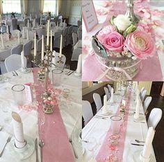 Tischdekoration  Hochzeit  Blumenschmuck  Wedding