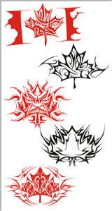 tribal flaming maple leaf - Google Search