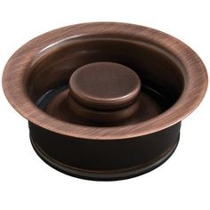 "Sinkology Kitchen Sink 3.5"" ISE Disposal Flange Drain Solid Brass with Stopper in Antique Copper"