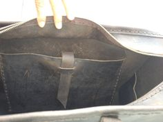 Overnight bag carry on duffle hand stitched by LUSCIOUSLEATHERNYC, $579.00