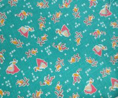 Vintage Cotton Feedsack Fabric Quilting by Theoldwhitecupboard, $18.50