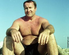 daddy bear grandpa beach gym shorts hairychest