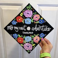 Painted Graduation Caps, Hand Painted Grad Cap, Custom Graduation Cap Art Painted Graduation Caps More from my site The Emperor New Groove Grad Cap Graduation Cap Decoration Ideas Grad Cap Ideas Sunflower Graduation Cap Inspiration Teacher Graduation Cap, Custom Graduation Caps, Graduation Cap Toppers, Graduation Cap Designs, Graduation Cap Decoration, Decorated Graduation Caps, College Graduation Quotes, Abi Motto, Grad Hat