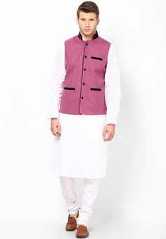 Magenta Waist Coat at $75.81 (24% OFF)