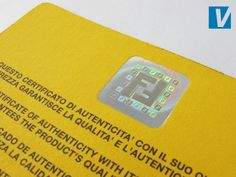 b645b7cc928 The yellow side of the guarantee card features a Fendi hologram. In  position 2 the hologram should show the FF logos around the edge bright and  clearly ...