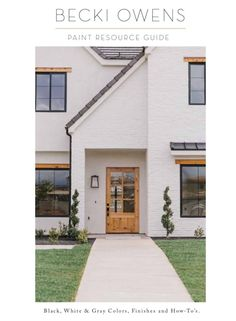 White brick exteriors paired with a wood roof is a look to love. See how this pairing adds a warm rustic vibe to the clean crisp look of white brick. Villa Design, Design Design, Architecture Résidentielle, Modernisme, Indoor Outdoor, Interior Exterior, Exterior Paint, Windows And Doors, Steel Windows