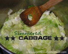 cabbage simmered