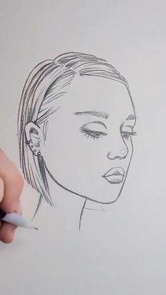 Art Drawings Beautiful, Art Drawings Sketches Simple, Pencil Art Drawings, Realistic Drawings, How To Sketch Faces, Pencil Sketches Easy, Art Painting Gallery, Art Sketchbook, Art Tutorials