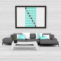 Inspirational Kindess canvas print/poster Fb Covers, Print Poster, Cool Designs, Inspirational Quotes, Canvas Prints, Cool Stuff, Gift, Design Ideas, Business