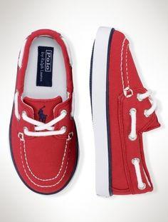 Baby boat shoes from Ralph Lauren