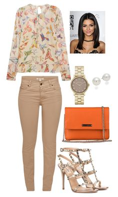 """""""Bez naslova #242"""" by chris-383 ❤ liked on Polyvore featuring RED Valentino, Barbour, Valentino, Marc Jacobs and AK Anne Klein"""