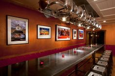 """Low 'n Slow Lowrider Bar, at Hotel Chimayo de Santa Fe and inspired by Inspired by Jack Parson and Carmella Padilla's book, """"Low 'n Slow - Lowriding in New Mexico,"""" pays tribute to Lowrider artistry  culture. #ArtisticNM"""