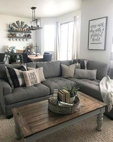 Cool 60 Stunning Farmhouse Living Room Design Ideas homstuff.com/… We are want to say thanks if you like to share this post to another people via your facebook, pinterest, google plus or twitter…More #SmallLivingRooms