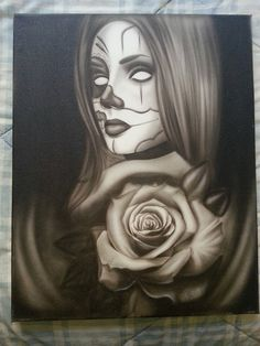Clown Girl Airbrushed painting 16x20 Canvas size by PepeArtwork, $100.00
