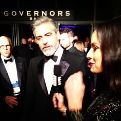 Catt Sadler from E! in Custom Nikki Rich interviewing George Clooney! #thedream
