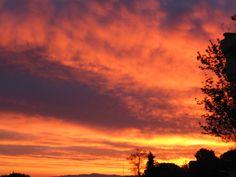 alba in campagna (toscana)
