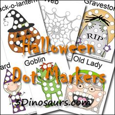 Halloween Dot Marker Pages - 22 pages - 3Dinosaurs.com