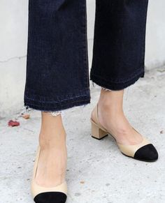 Frayed denim and Chanel slingbacks | The Lifestyle Edit