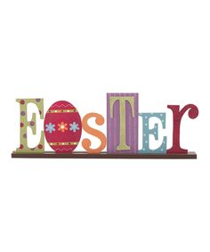 This 'Easter' Cutout Sign by Transpac Imports is perfect! #zulilyfinds