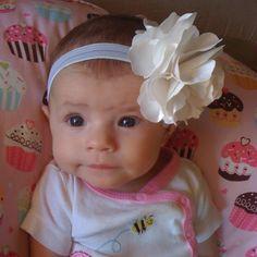 Head band I made #babygirl #headband #bow
