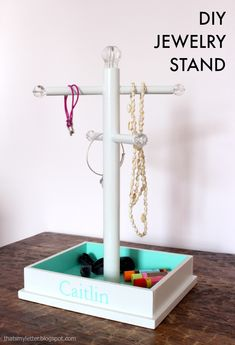 "That's My Letter: ""J"" is for Jewelry Stand Plans"