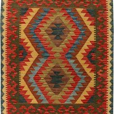 Afghani Hand Knotted Vegetable Dyed Killim Size M X M Knots, Bohemian Rug, Knot