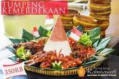 Nasi Tumpeng Merah Putih ala Warung Apung Rahmawati   http://www.warungapung.com