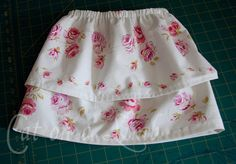 Simple, No-pattern, Two-tiered Girls Skirt  by CatonaLimb, via Flickr