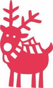Silhouette Design Store - View Design #52720: cute reindeer
