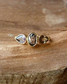Oval and Pear Sapphire Ring by kateszabone on Etsy