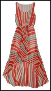 Nice Stripe drop hem dress