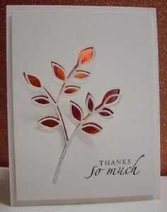 used negative of die cut and then secured the die cut to the card