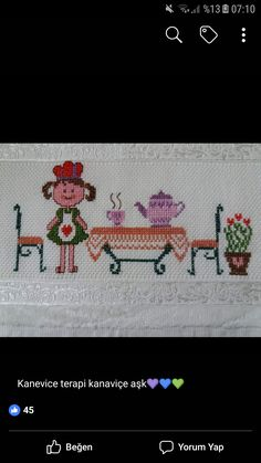Mutfak Cross Stitch Baby, Cross Stitch Embroidery, Baby Knitting Patterns, Crochet Patterns, How To Make Headbands, Diy Headband, Diy Doll, Cross Stitch Designs, Fabric Scraps