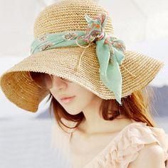 b9e0bac5778 YOCCAS 2016 Summer New Hand Tied Bow Straw Hat. Crochet HatsCrochet ...