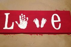 Cute Footprint Valentine's Day Crafts for Kids