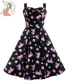 HELL BUNNY Kleid 50er Jahre Mysisch Cupcake Rockabilly Kleid Schwarz in Kleidung & Accessoires, Damenmode, Kleider | eBay