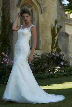 Beautiful Fitted Dress with a Flare from Finesse Bridal Wear in Listowel, Co Kerry #FitandFlare #TrailDress
