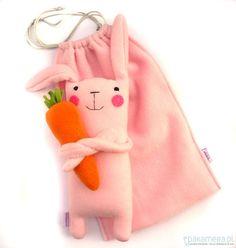 zabawki - misie i maskotki-Zając z marchewą