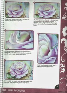 Talita Monteiro: Como Pintar Rosa Porcelanizada