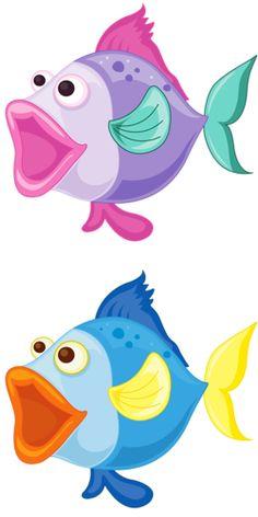 love the fish lips Cartoon Clip, Cartoon Fish, Cute Cartoon, Animal Drawings, Art Drawings, Cartoon Sea Animals, Fish Quilt, Ceramic Fish, Sea Theme